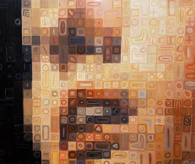 acrylique sur toile 80 x 80 cm