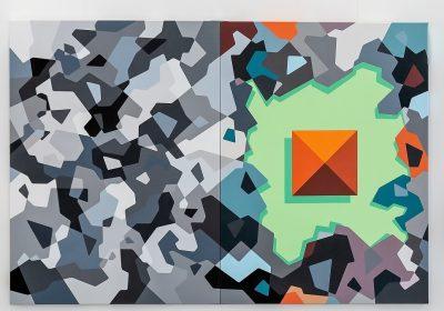 acrylique sur toile diptyque 80 x 200 cm