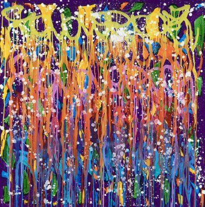 acrylique sur toile 122 x 122 cm