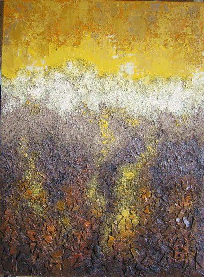 Huile et mixte sur toile - 73 x 54 cm