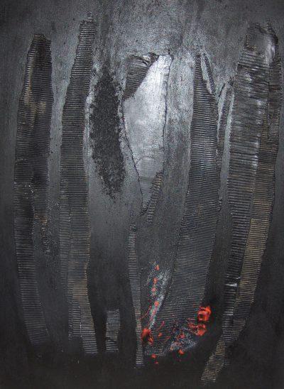 Huile et mixte sur toile - 130 x 97 cm