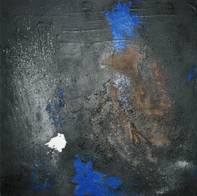 Huile et mixte sur toile - 90 x 90 cm