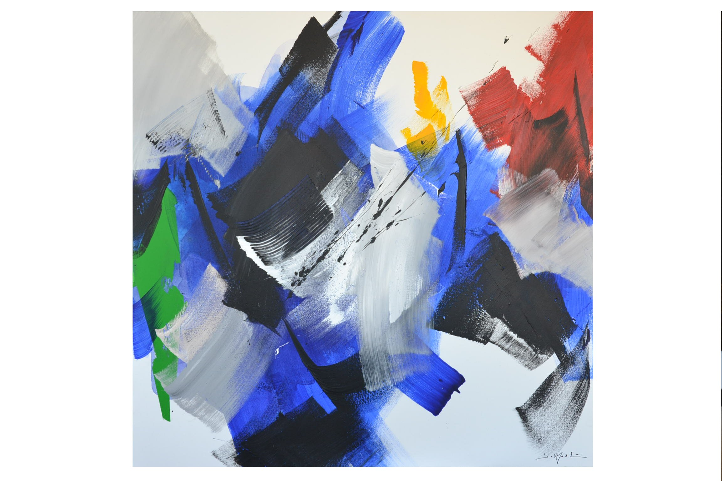 Oeuvres abstraction lyrique art4us for Abstraction lyrique