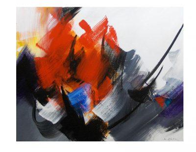 Acrylique sur toile - 81 x 100 cm