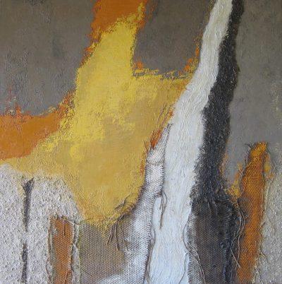 Huile et mixte sur toile - 100 x 100 cm