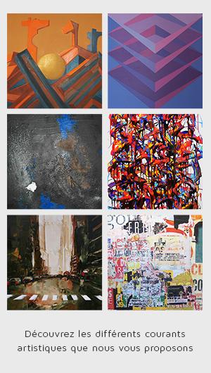 Découvrez les différents courants artisitiques que nous vous proposons   Art4us