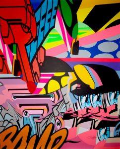 street-Art - acrylique sur toile 140x120 cm