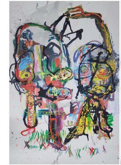 street-Art - acrylique sur toile 195x130 cm