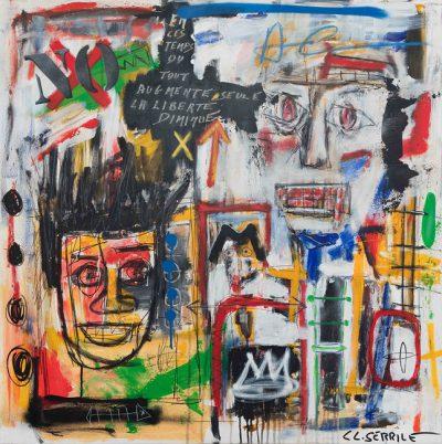 art brut - huile sur toile 100x100