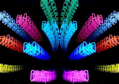 Art lumineux 100x100