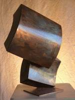 sculpture intérieur acier poli 45x40x25 cm