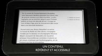Une tablette interactive avec un contenu référent et accessible  | aRT4us